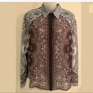 NWT Clover Canyon button down blouse large